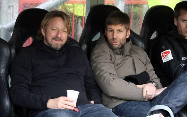 Sven Mislintat und Thomas Hitzlsperger planen eine langfristige Zusammenarbeit