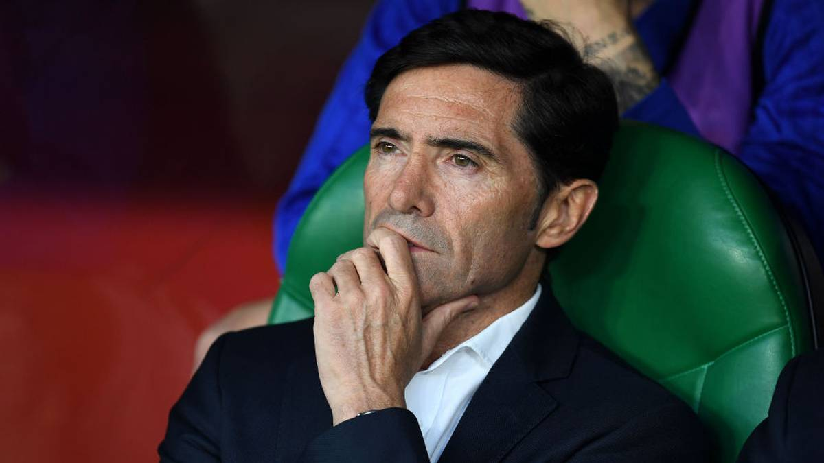 SEVILLE, SPAIN - MAY 25: Head coach Marcelino Garcia Toral of Valencia CF looks on during the Spanish Copa del Rey match between Barcelona and Valencia at Estadio Benito Villamarin on May 25, 2019 in Seville, . (Photo by Alex Caparros/Getty Images)