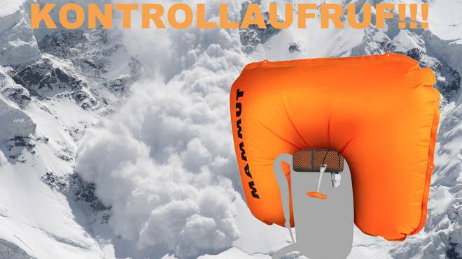 Kontrollaufruf  Mammut Airbag 3.0