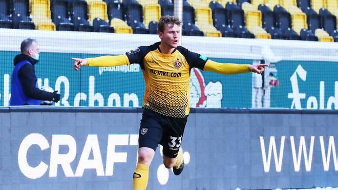 Christoph Daferner jubelt über das 1:0