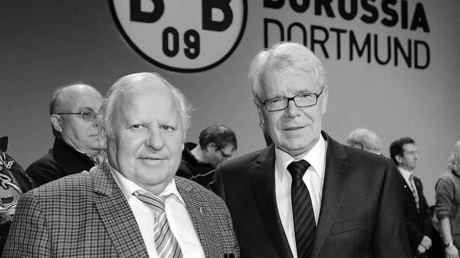 "Borussia Dortmund trauert um Vereins-Idol  Dieter ""Hoppy"" Kurrat (links)"