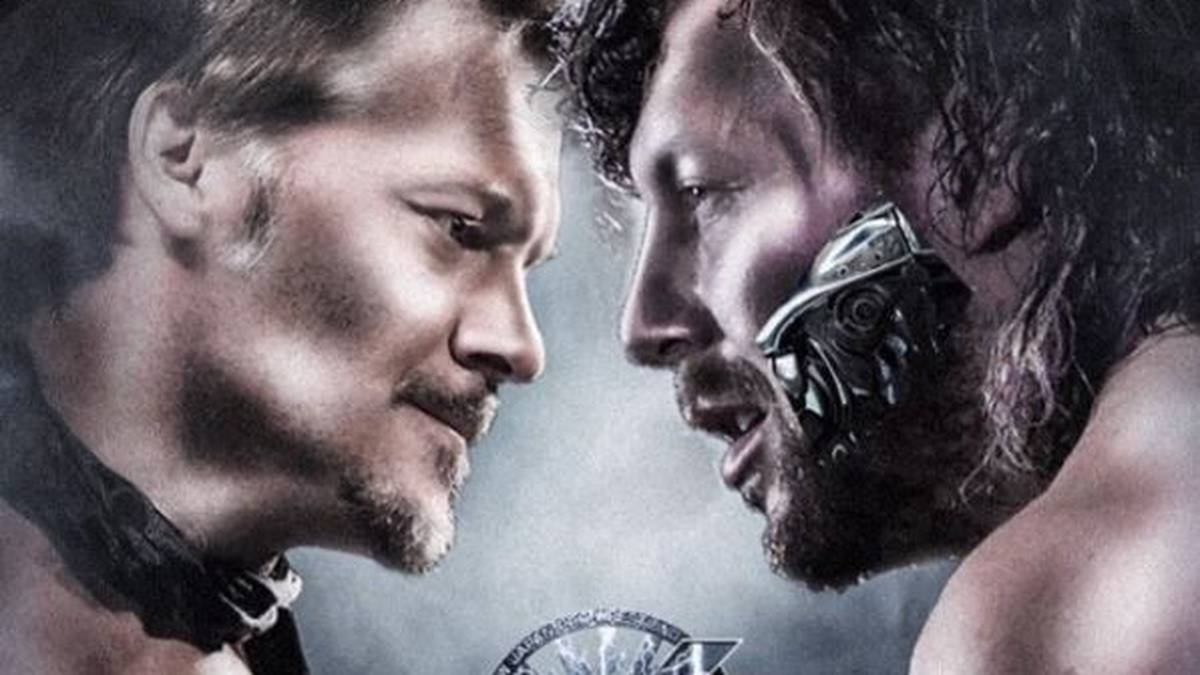 WWE-Topstar Chris Jericho (l.) tritt im Januar für NJPW gegen Kenny Omega an