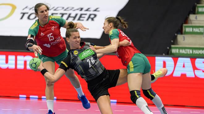 Einmal mehr eine der auffälligsten Handballerinnen im DHB-Team beim Sieg gegen Portugal: Emily Bölk