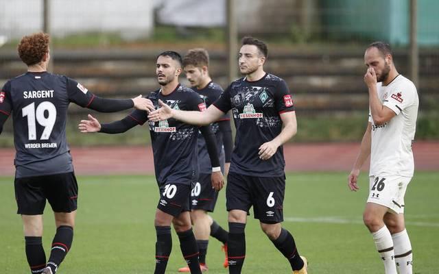 Die Mannschaft von Trainer Florian Kohfeldt gewann ein Testspiel gegen den Zweitligisten FC St. Pauli