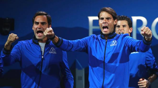 Roger Federer und Rafael Nadal spielten beim Laver Cup in einem Team