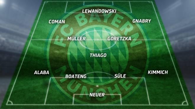 Die mögliche Aufstellung des FC Bayern gegen Hertha BSC