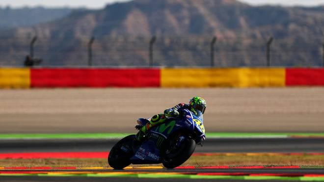 Valentino Rossi verpasst beim Großen Preis von Aragonien knapp das Podest