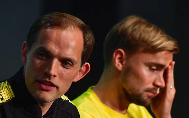 Thomas Tuchel (l.) wird Marcel Schmelzer und Kollegen vor Gericht wiedersehen
