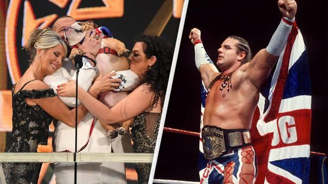 Der British Bulldog (r.) wurde von Sohn Harry in die WWE Hall of Fame eingeführt