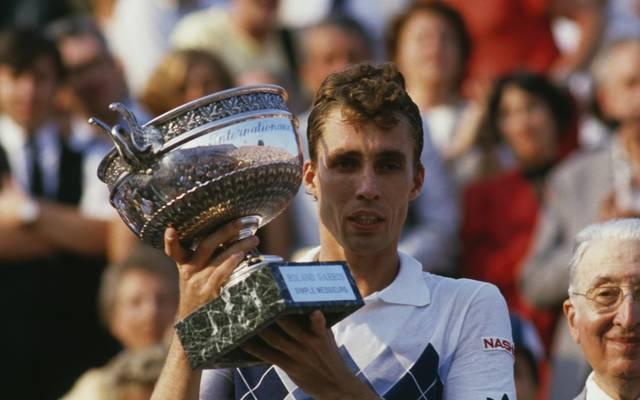 Ivan Lendl beim Gewinn der Franch Open 1984