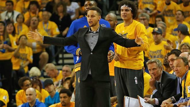 Die Warriors bangen um den Einsatz von Steph Curry in Spiel 3 bei den Rockets