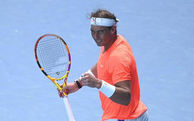 Rafael Nadal hat sich im Achtelfinale der Australian Open gegen Fabio Fognini durchgesetzt