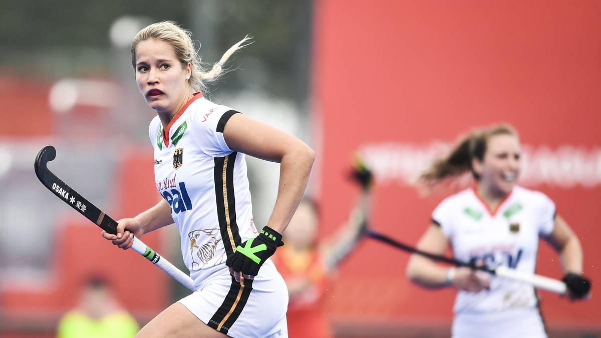 Hannah Gablac traf für die deutschen Hockey-Damen
