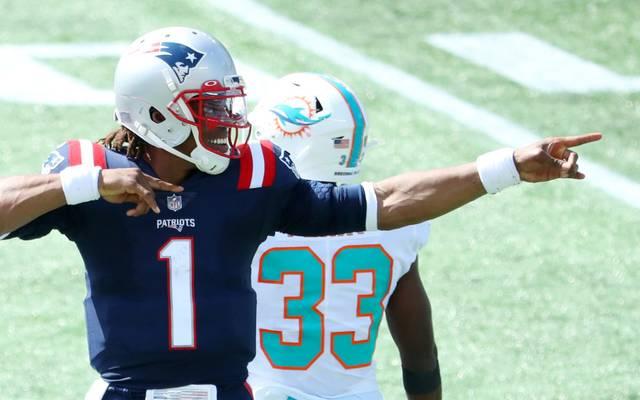 Cam Newton feierte mit den Patriots einen Sieg gegen die Dolphins