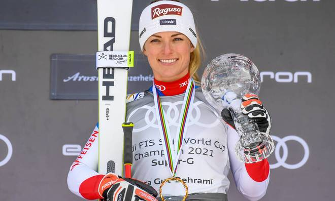 Lara Gut-Behrami gewann in der Saison 2020/21 die kleine Kristallkugel im Super-G