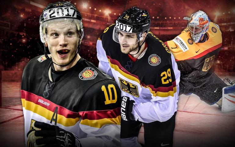 Die deutsche Nationalmannschaft erreicht bei der Eishockey-WM in Russland erstmals seit fünf Jahren wieder das Viertelfinale. Dabei beeindruckt die Mannschaft von Marco Sturm mit ihrem Offensivspiel und feiert Siege über die USA und die Slowakei. SPORT1 stellt sieben Männer mit einem großen Anteil daran vor