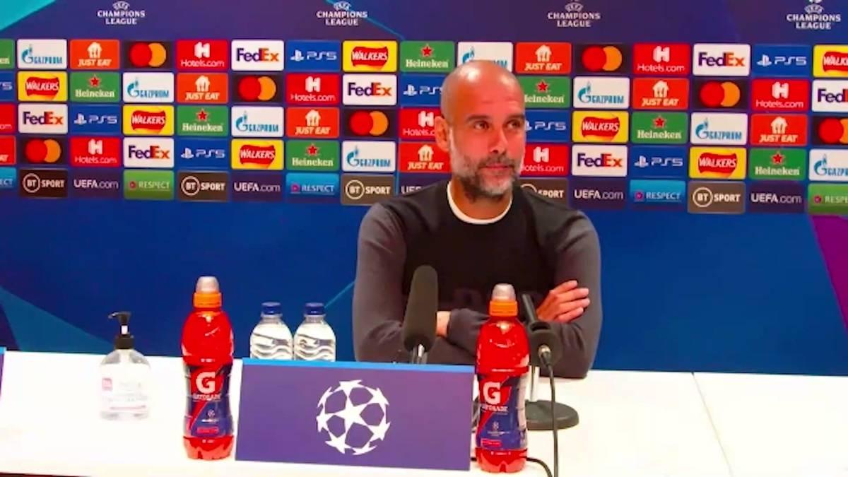 Auf der Pressekonferenz vor dem Champions-League-Auftakt gegen RB Leipzig wird Manchester-City-Coach Pep Guardiola mit einer Aussage konfrontiert, die er angeblich nie getätigt hat.