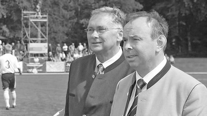 Horst Winkler (l.) war Vizepräsident beim Bayerischen Fußball-Verband