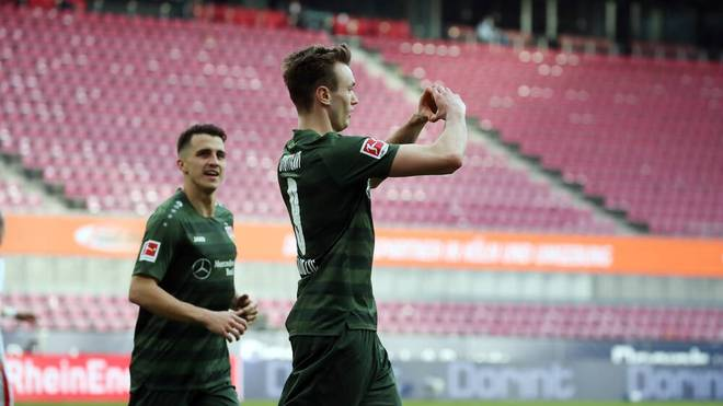Kalajdzic (r.) köpft Stuttgart zum Sieg in Köln