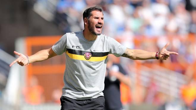 Dynamo Dresden und Trainer Cristian Fiel wollen Wehen Wiesbaden zuhause schlagen