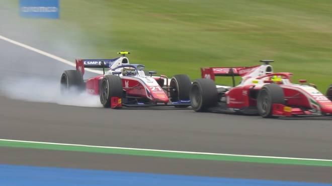Mick Schumacher kollidiert in Silverstone mit seinem Teamkollegen
