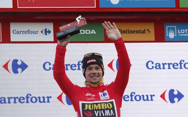 Primoz Roglic fährt bei der Vuelta wieder im Roten Trikot