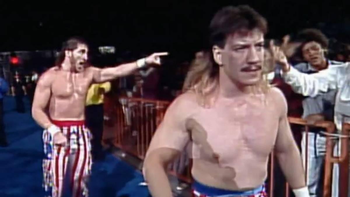 Art Barr (l.) in seinem letzten großen Match mit Eddie Guerrero 1994