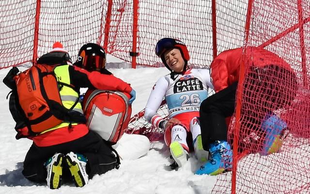 Elisabeth Reisinger stürzte bei der Weltcup-Abfahrt in Crans Montana
