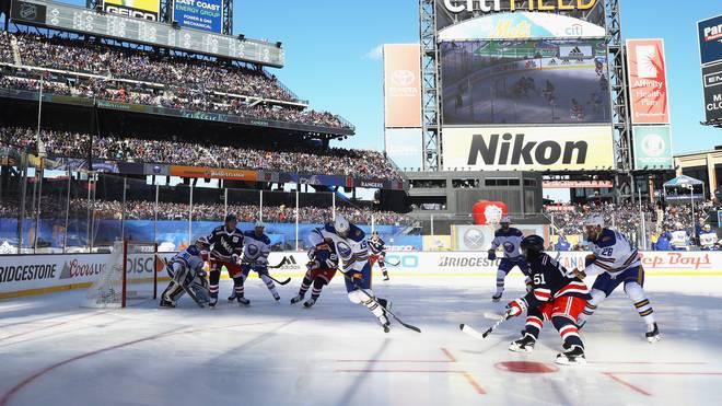 Über 41000 Zuschauer wohnten dem NHL-Spiel zwischen den New York Rangers und den Buffalo Sabres bei