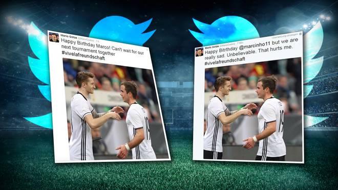 Mario Götze wollte eigentlich nur Marco Reus gratulieren