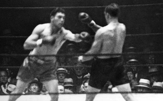 Max Schmeling (l.) wurde 1930 zum Schwergewichts-Weltmeister erklärt