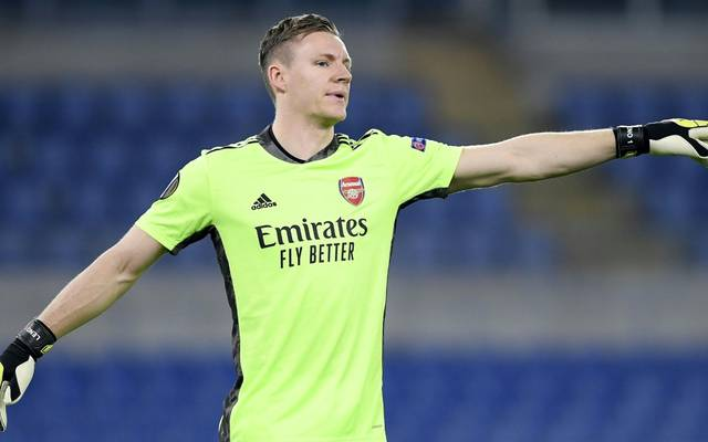 Bernd Leno mit Arsenal in der Europa League zittern