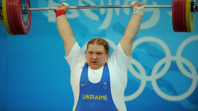 Olha Korobka of Ukraine competes in the