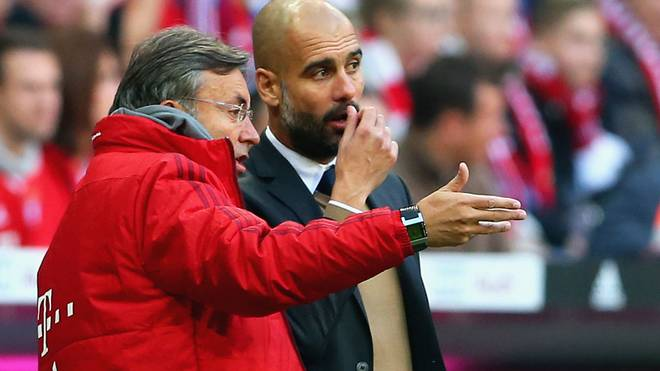 Domenec Torrent und Pep Guardiola