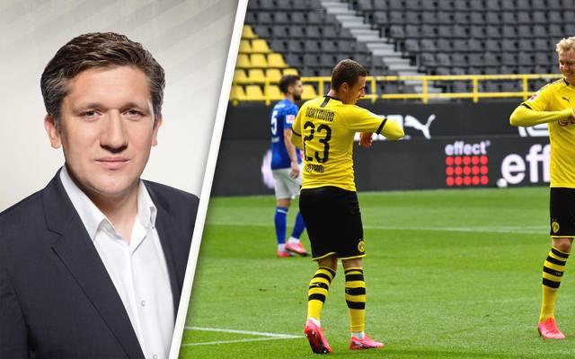 Matthias Becker, Thorgan Hazard und Julian Brandt