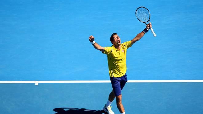 Novak Djokovic steht im Viertelfinale der Australian Open