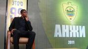 Samuel Eto'o takes part in a press confe
