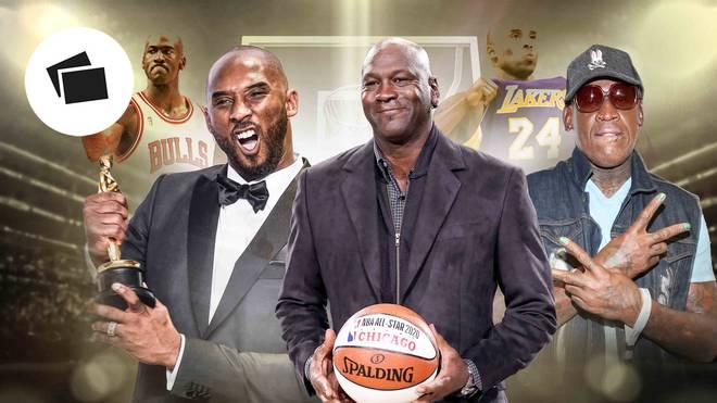 Michael Jordan, Kobe Bryant, Dennis Rodman