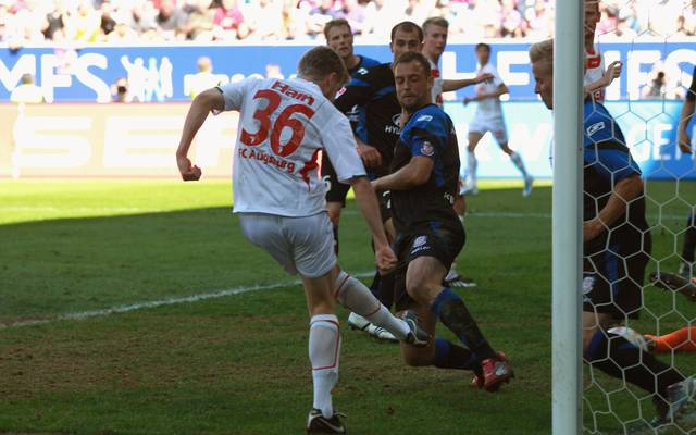 Stephan Hain erzielt sein historisches Tor gegen den FSV Frankfurt