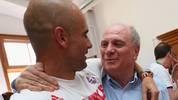 Pep Guardiola und Uli Hoeneß verstehen sich prächtig
