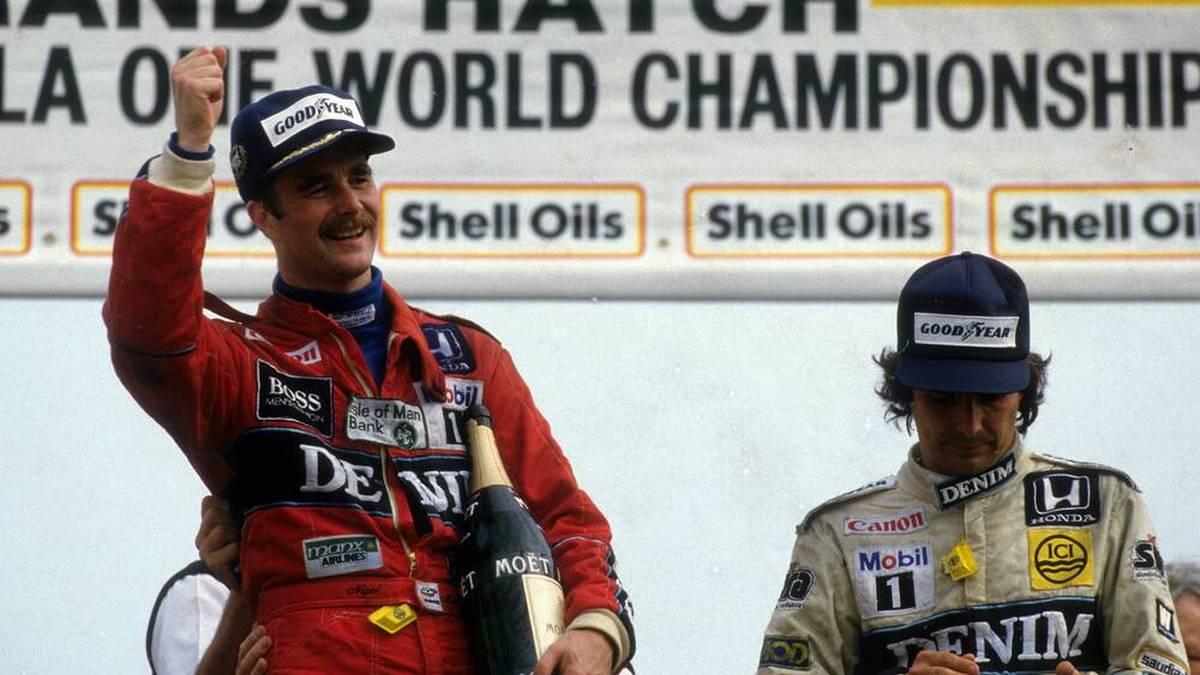 Nigel Mansell (l.) und Nelson Piquet (r.) hatten sich nur selten etwas zu sagen