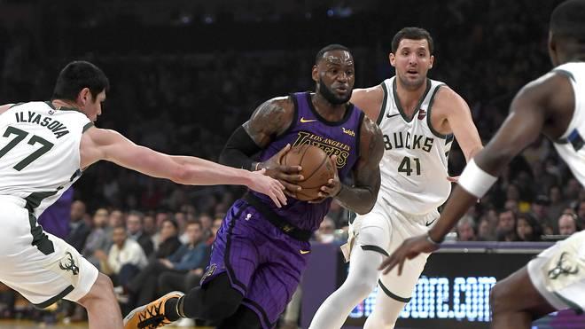 LeBron James machte zwar 31 Punkte, dennoch setzten sich die Milwaukee Bucks gegen die Lakers durch