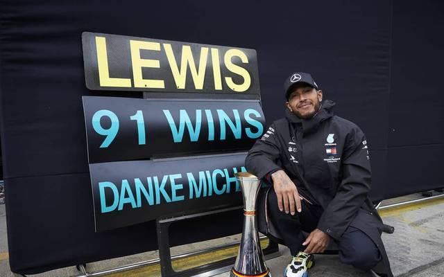 Lewis Hamilton zog am Nürburgring mit Michael Schumacher gleich