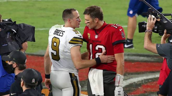 Zum ersten Mal in ihrer beeindruckenden Karriere treffen Drew Brees (l.) und Tom Brady in den Playoffs aufeinander