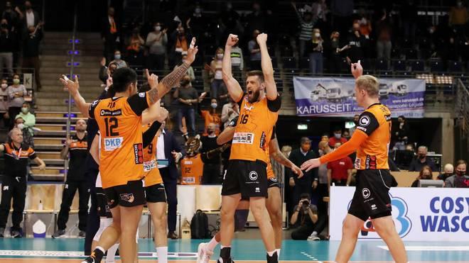 Die BR Volleys Berlin siegten zum Start gegen Düren