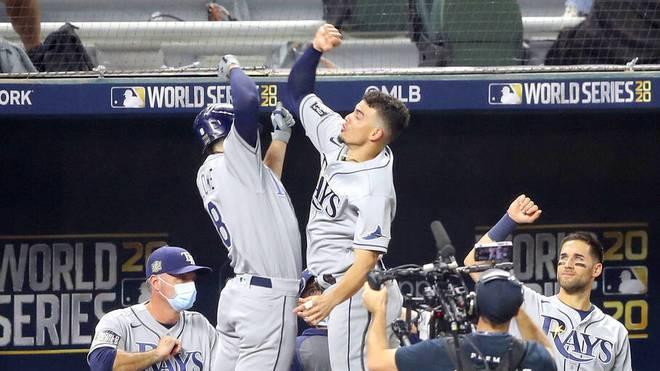 Brandon Lowe hatten großen Anteil am Sieg der Tampa Bay Rays gegen die Los Angeles Dodgers