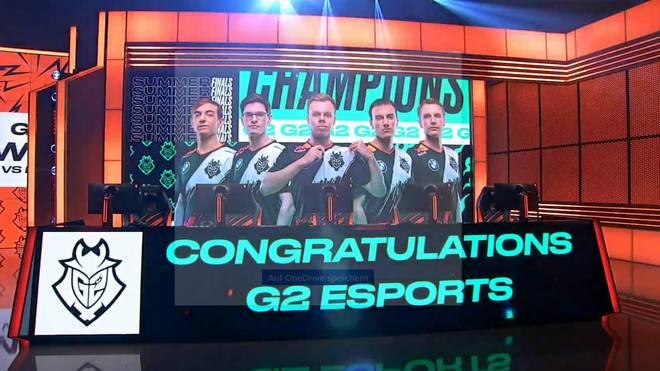 G2 Esports besiegt Fnatic und gewinnt die LEC-Summer-Playoffs 2020 in League of Legends