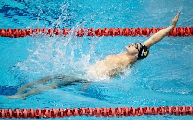 Bei der Kurzbahn-EM in Glasgow holt Christian Diener die erste Medaille für die deutschen Schwimmer
