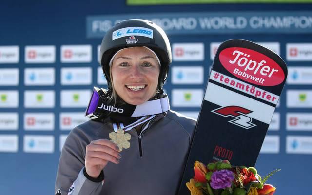 Selina Jörg freut sich über ihren WM-Sieg
