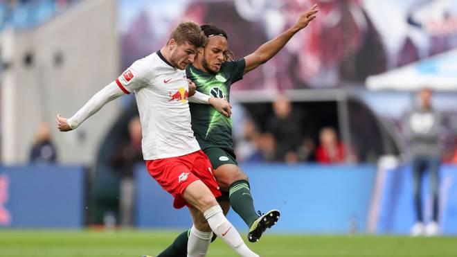 RB Leipzig (l.: Timo Werner) muss im DFB-Pokal beim VfL Wolfsburg ran